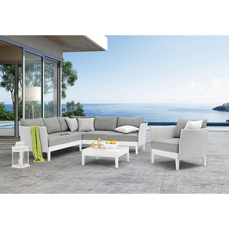 Luxury corner sofa exterior