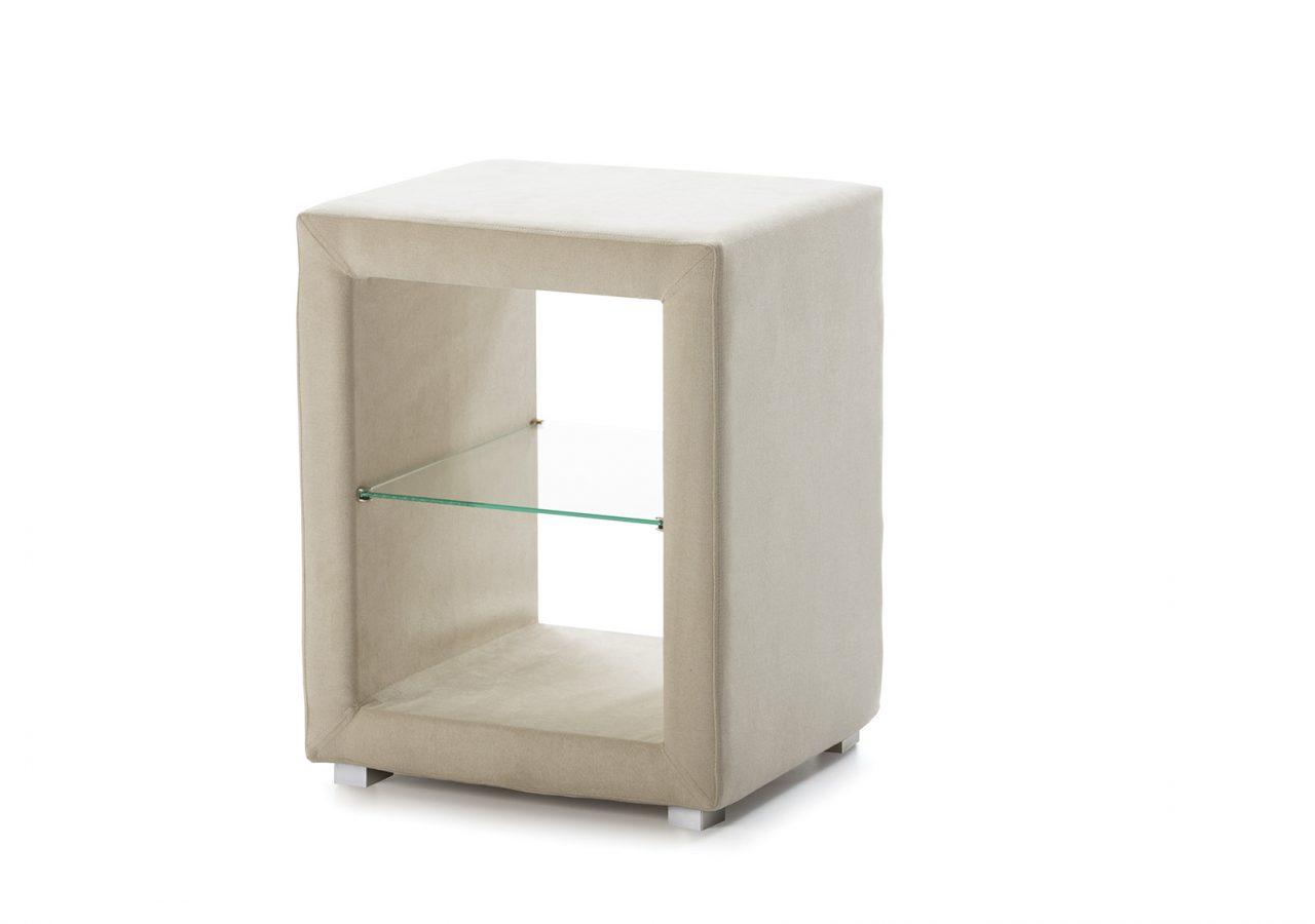 upholstered bedside cabinet
